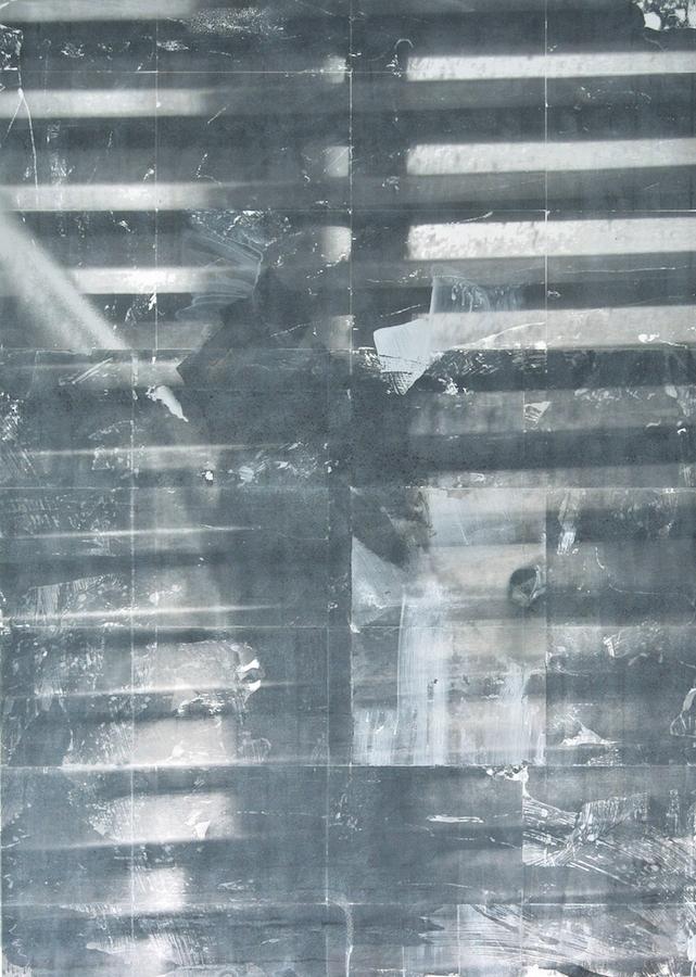 Timothée Schelstraete, Sans titre, 2018. Toner, acrylique et aérosol sur toile, 140 x 100 cm. Courtesy artiste et Galerie Valérie Delaunay Paris