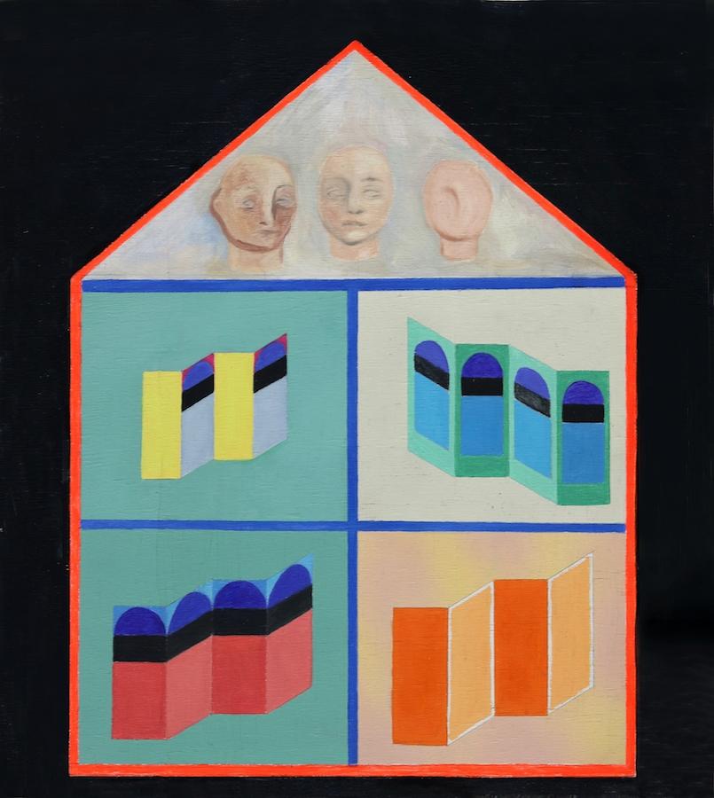 Garance Matton, Maison n°1, 2019. Huile et acrylique en spray sur toile Courtesy Garance Matton et Faubourg des Jeunes Artistes.