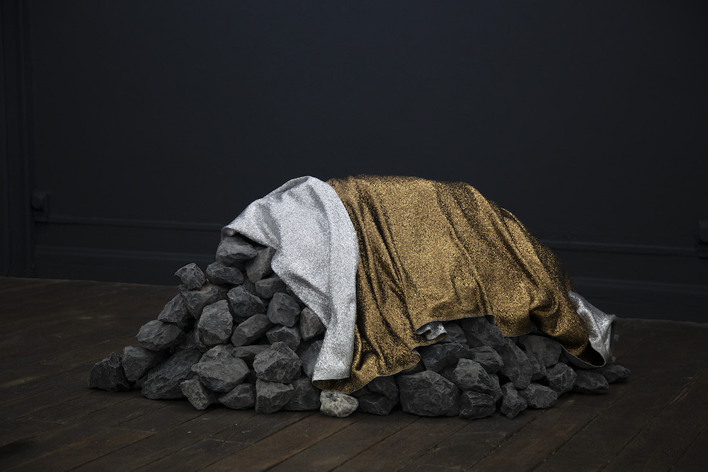 Sarah Nance, (emergency) (space) blanket for the moon. Courtesy artiste