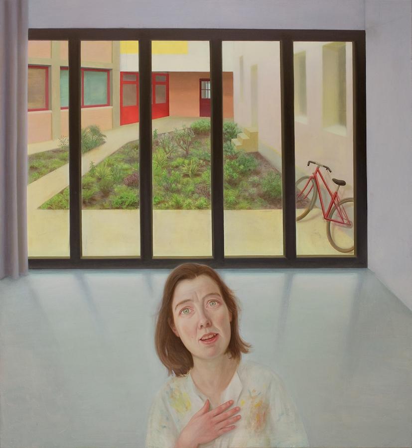 Marion Bataillard, L'amour du monde, 2018-2019. Huile sur toile, 130x120 cm