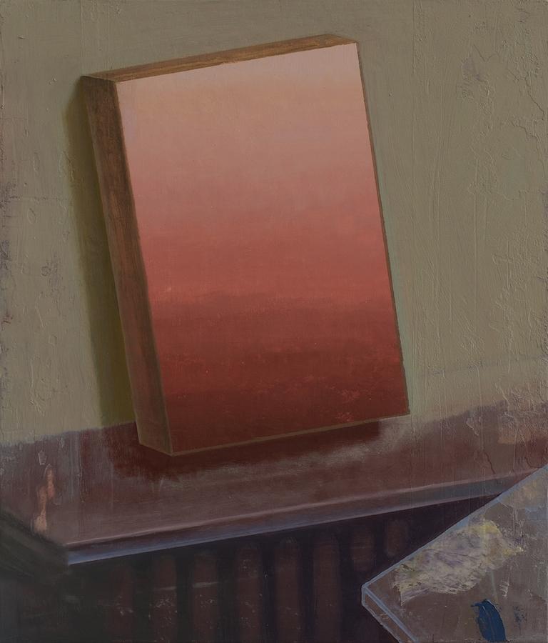 Marion Bataillard, Tableau abstrait, 2019. Huile sur bois, 35x30 cm