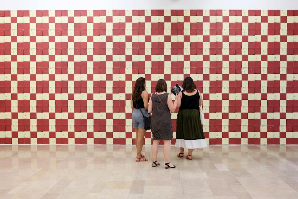 """Vue d'exposition Nicolas Daubanes, """"S'ils avaient pu, ils auraient emporté la lumière et l'eau"""" La Halle Centre d'art contemporain, Pont-en-Royans Photo Phoebé Meyer"""