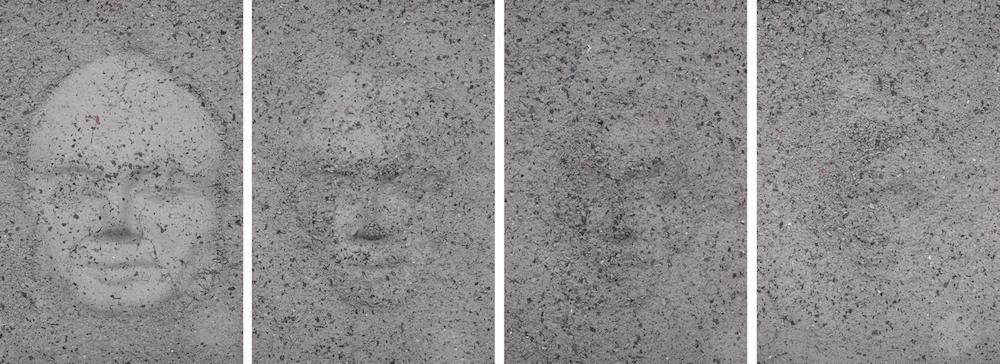 Annabel Aoun Blanco, Coups après coups, série de 4 photographies, tirages Fine Art contrecollés sur dibond noir, 60x40 cm chaque, 2017, © Annabel Aoun Blanco