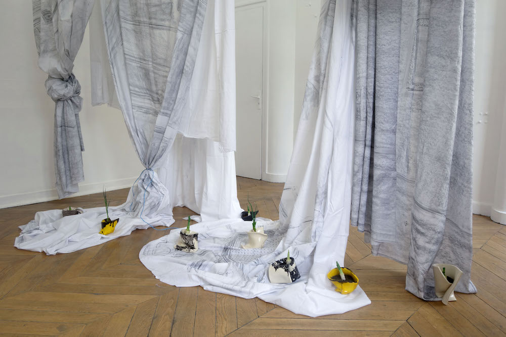"""Exposition """"à la jetée du lit"""" de Cécile Meynier du 19 mai au 21 juillet 2019 à L'attrape-couleurs Lyon"""