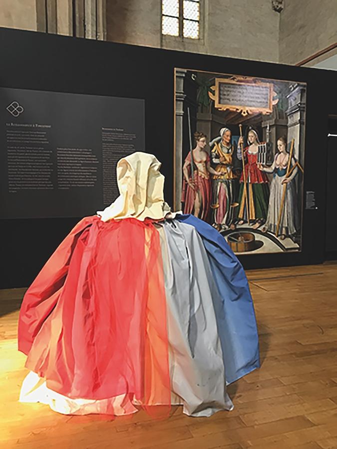 Iris Garagnoux, Les Quatre, 2019. dimensions variables Vue de l'exposition mimesis* au Musée des Augustins, Toulouse, avril 2019  Courtesy et photo Iris Garagnoux