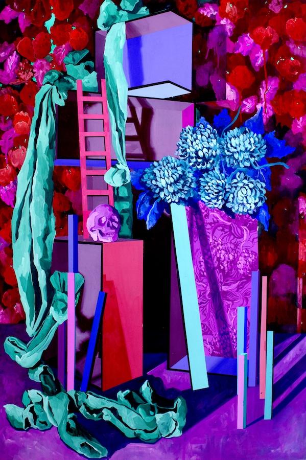 Claire Vaudey, L'énigme, 112x76cm, gouache sur papier. Exposition « Allée des Sphinx » avec Julien Deprez, Vanina Langer, Romain Trinquand, Claire Vaudey jusqu'au 25 Août 2019 au Louxor Paris