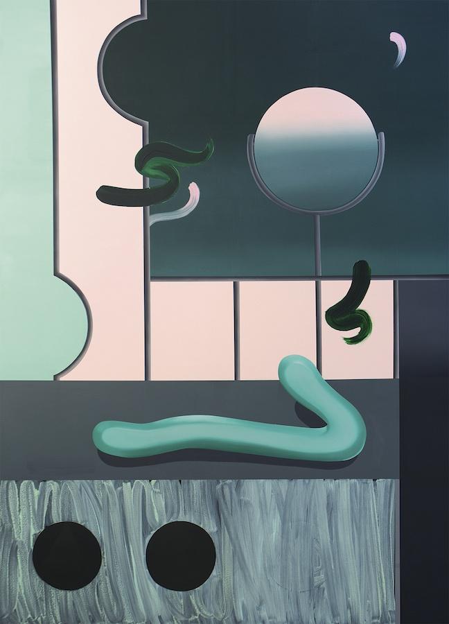 """Cellini, Vue de l'exposition personnelle """"Shiny Shiny"""" de l'artiste Anna Nero, à She BAM!, Leipzig"""