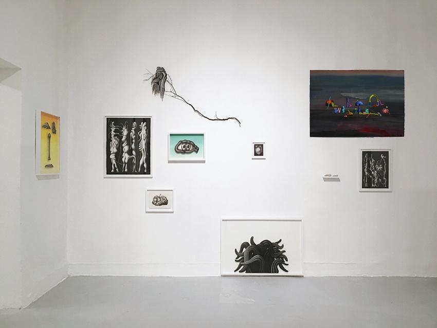 Chloé Poizat lauréate du Prix indépendant Point contemporain  Vue du stand de la galerie 22,48M2 à PARÉIDOLIE