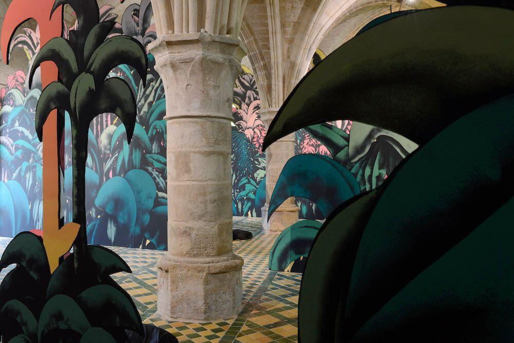 La Forêt (des égarés) Exposition «Electric Ladyland» de Julien Colombier à l'abbaye de Maubuisson du 19 mai au 5 octobre 2019 Photo C. Brossais-CDVO