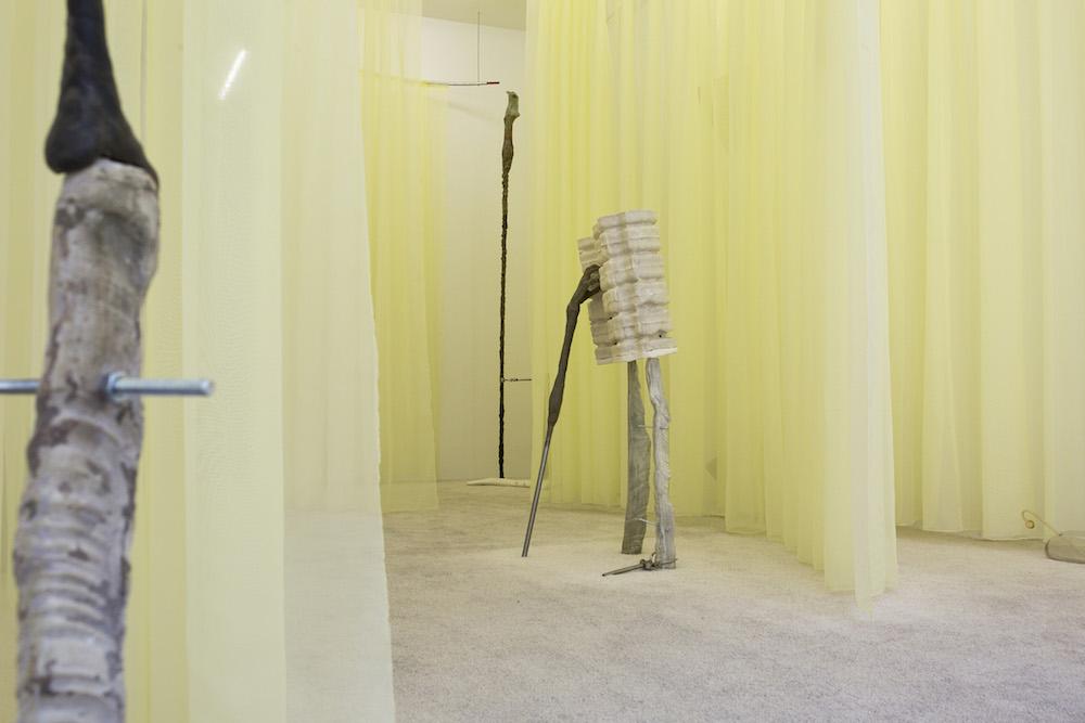 Vue de l'exposition de Laura Gozlan, « Youth Enhancement Systems® » Galerie Valeria Cetraro, 2019  Courtesy de l'artiste et Galerie Valeria Cetraro  Photo Salim Santa Lucia