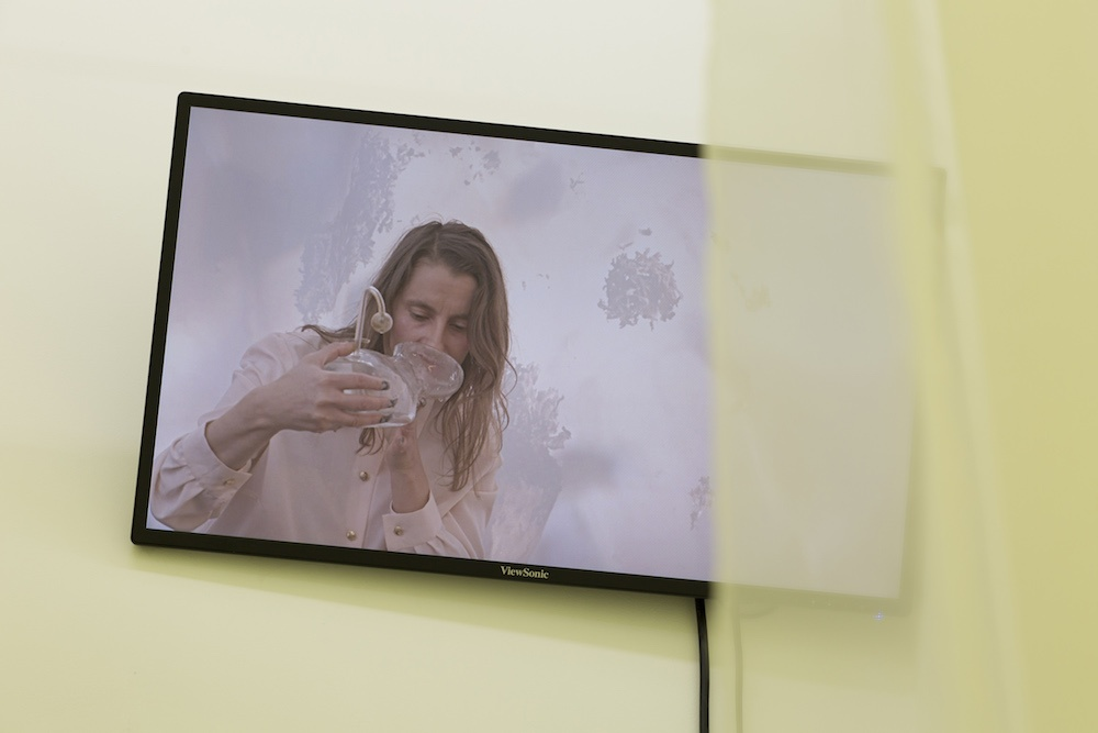 Laura Gozlan , Y.E.S. I, MUM please , 2019 Film HD, couleur, son. 5 ' 26 '' 3E + 1EA . « Youth En-hancement Systems ® » , Galerie Valeria Cetraro, 2019 Courtesy de l'artiste et Galerie Valeria Cetraro