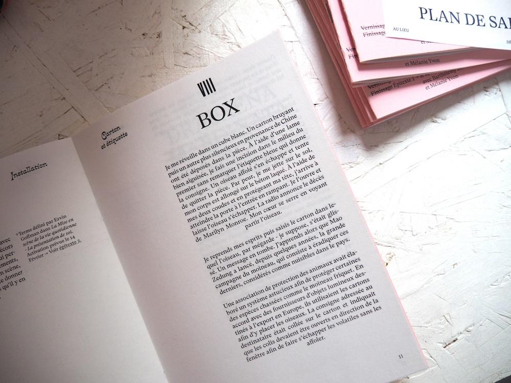 """Vue d'exposition de sortie de résidence,  """"Mélanie Yvon, Désir d'achat"""" VERSION D'ESSAI 2018,  du 31 janvier au 16 février 2019 AU LIEU"""