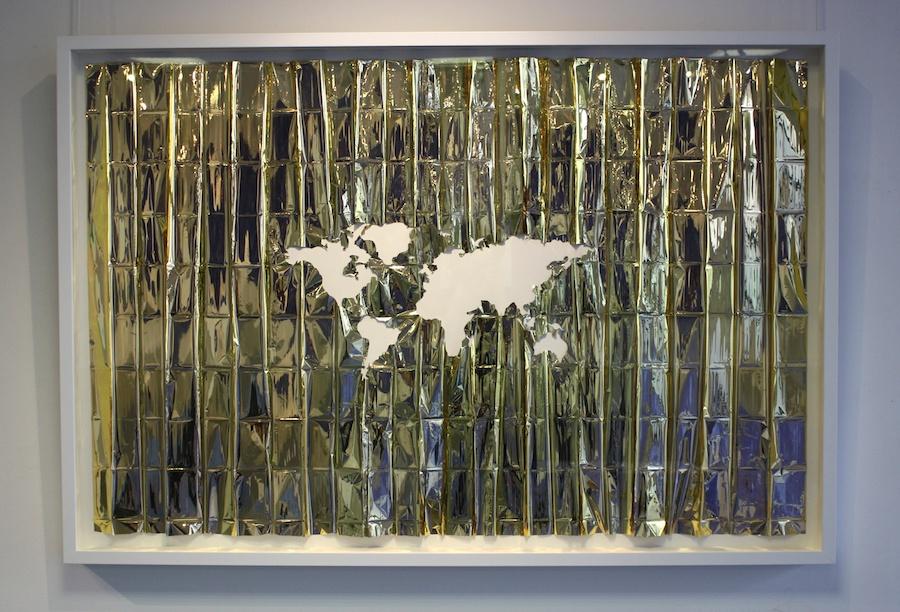 Céline Tuloup, vue de l'exposition Pythie.  Installation Errances