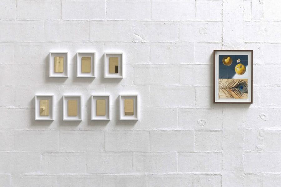 Vue d'exposition Le Mat, La Tempérance, Le Pape et Le Soleil
