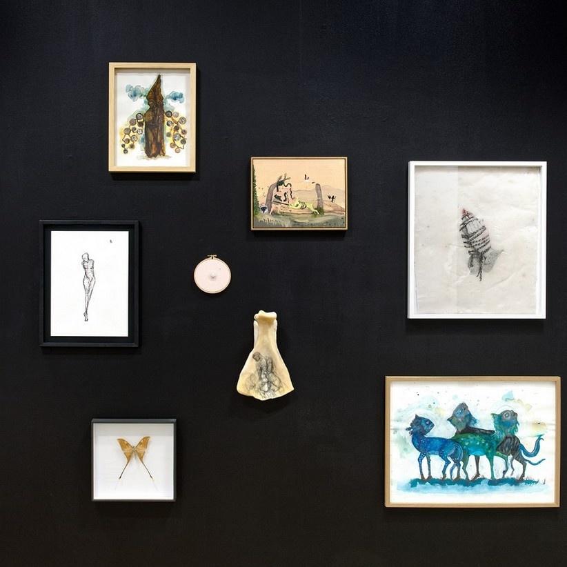 Vue de l'exposition Eloge de la curiosité, Galerie Henri Chartier Lyon. Photo Blaise Adilon