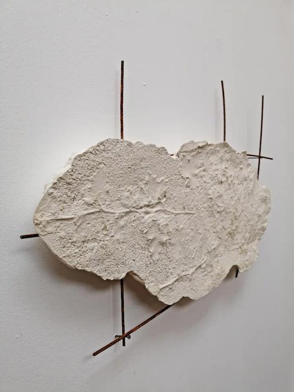 Morgane Porcheron Les Grimpantes - 2018 Plâtre et treillis métalliques  61,5 x 42 x 4,5 cm  Photo Florence Traullé