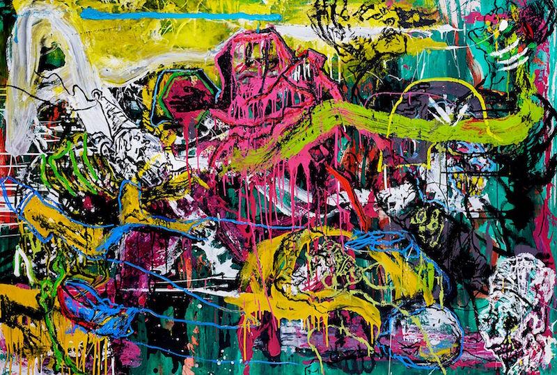 FIGUREN. Huile et glycéro sur toile, 130 x 195 cm. Courtesy Orsten Groom