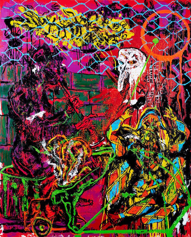 GHETTO. Huile et glycéro sur toile, 162 X 130 cm. Courtesy Orsten Groom