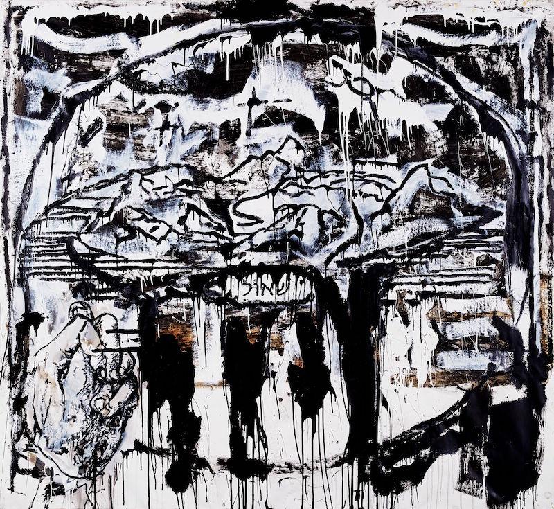 SHEOL. Huile et glycéro sur toile, 220 x 240 cm. Courtesy Orsten Groom