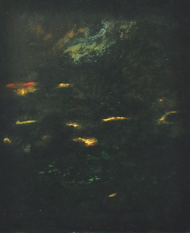 Ségolène Haehnsen Kan, Songe de Payne, 2018. Huile sur toile, 60 x 80 cm
