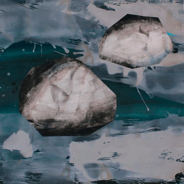 Stéphane Raynal Sans titre 2019 Dispersion et huile sur papier 130 x 122 cm