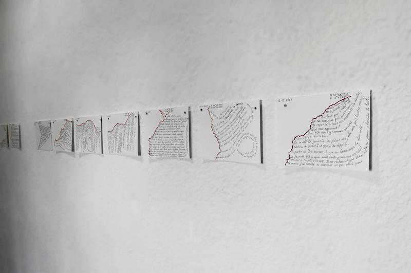 Victoria Nichitici - Back on track Carnet de bord 2017, 2018 et 2019 graphite sur papier