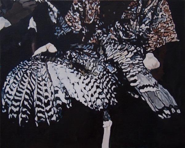 Barbara Navi, Talisman, huile sur toile, 40 x 50 cm, 2017. Courtesy artiste
