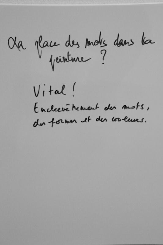 Delphine Sandoz, La place des mots dans ta peinture ?