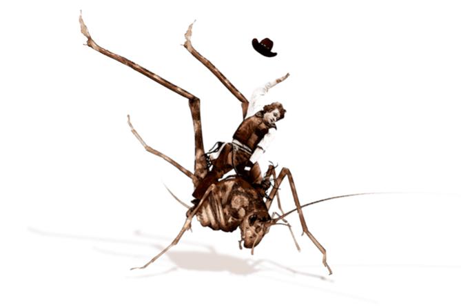 Ghyslain Bertholon, Grasshopper Boy II, 2014 Dessin sur papier, tirage fine art,  40 x 60cm