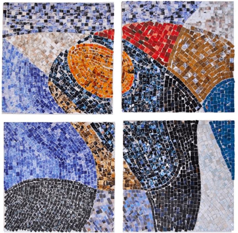 Kwama Frigaux, Lignes, août 2019, 30x30cm, photographie sur toile, 3600 tesselles
