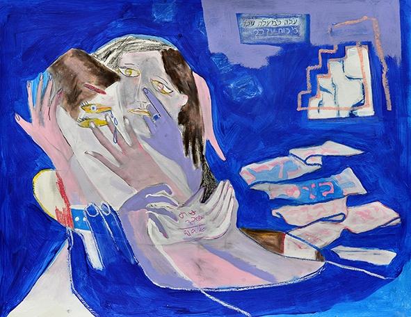 Élisabeth Mironenko, P.66, Acrylic on special paper, 65x50cm, 2019