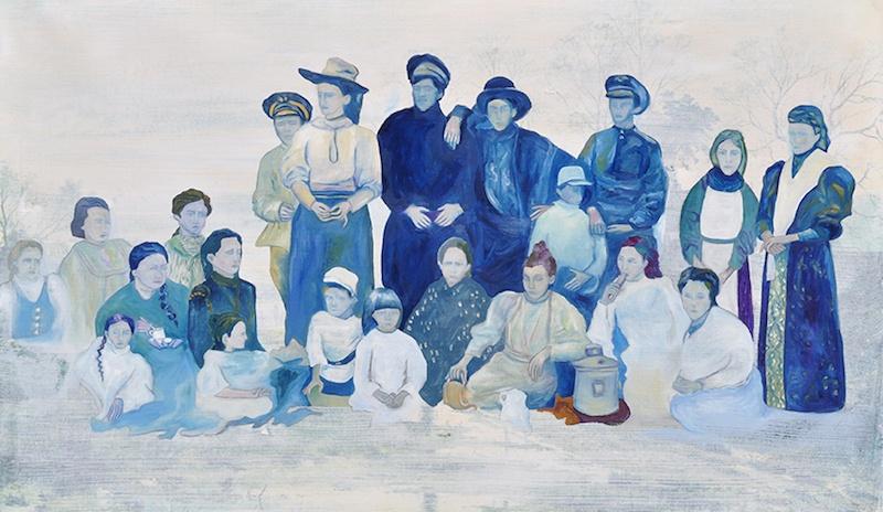 Élisabeth Mironenko,, Olga Mikhaylovna, Peinture à l'huile sur toile, 107x67cm, 2019 Série Diaspora