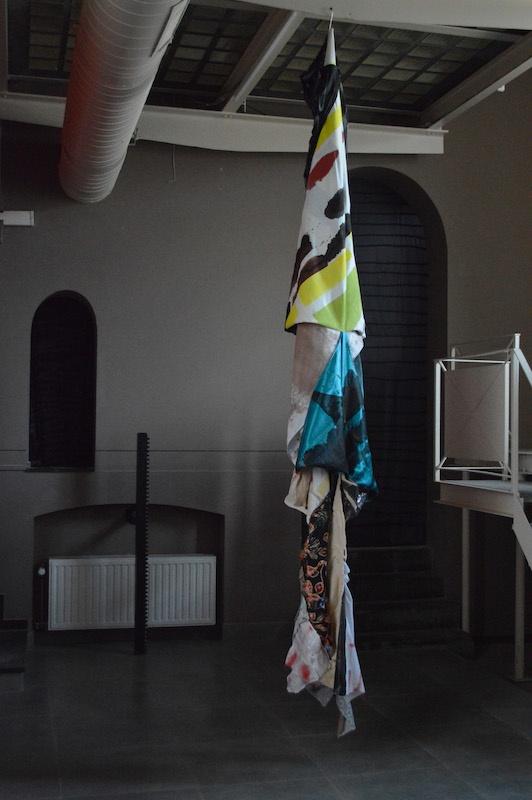 Luca dal Vignale-Extrait de Sans titre, technique mixte sur tissu cousu, dimension variable, La Grande Ecluse, Bruxelles, 2019
