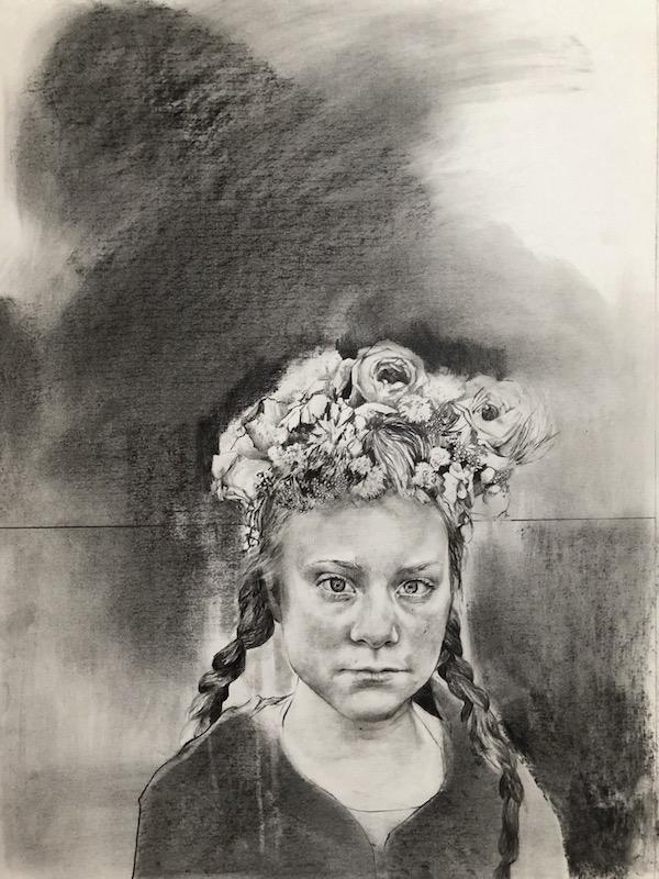 Magdalena_Lamri_Greta, 2019, Fusain et graphite sur papier, 45x55.jpg