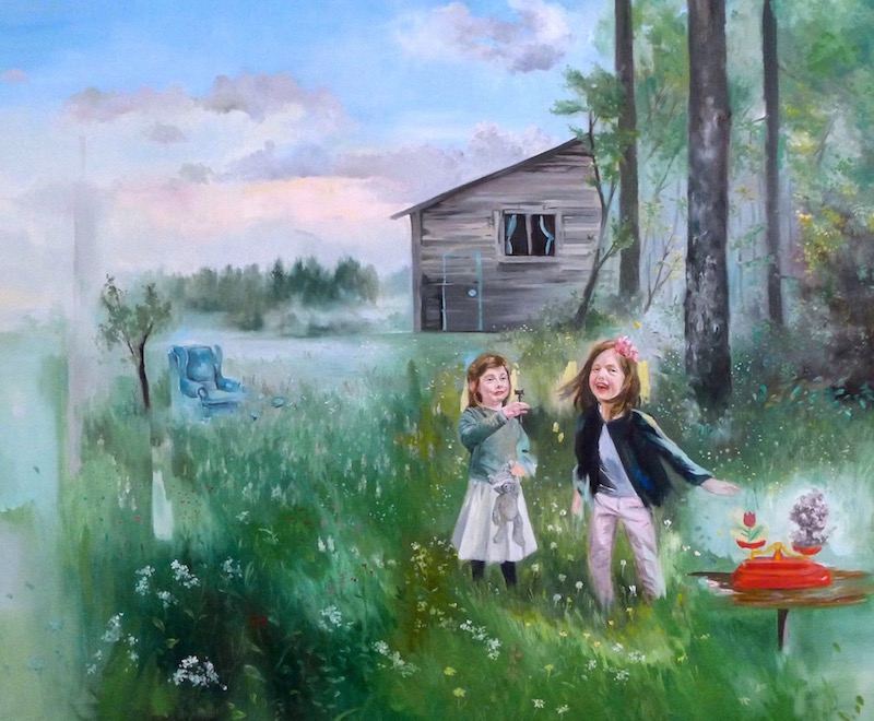 Magdalena Lamri, Rien nétait trop beau pour vous, vous n'aurez rien III, 2019, huile sur toile, 120 x 100 cm