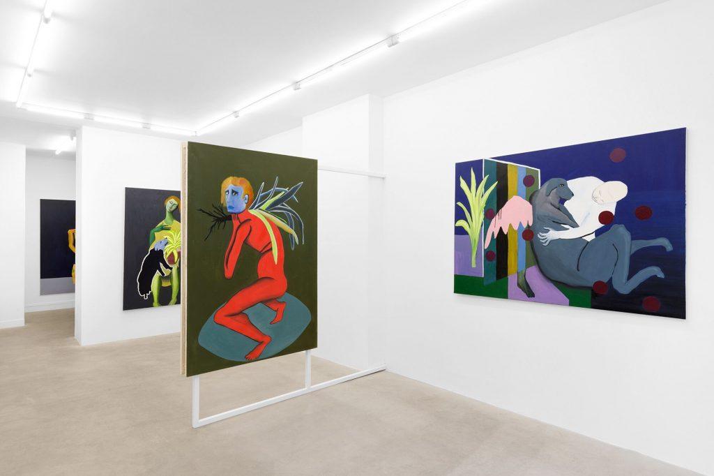 Vue de l'exposition de Diego Wery  « Qu'est-ce qu'on fait Maintenant qu'on Est contents » Galerie Valeria Cetraro, 2020  Courtesy de l'artiste et Galerie Valeria Cetraro Photo Salim Santa Lucia
