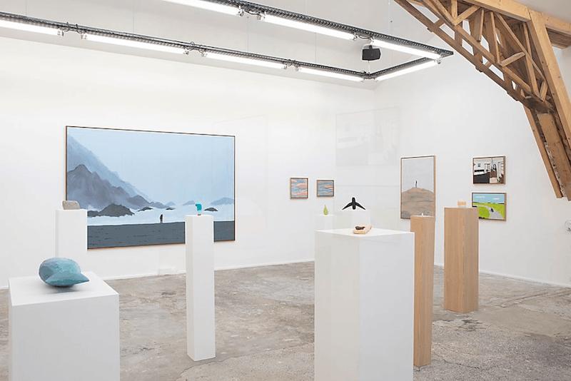 """Vue de l'exposition """"Les Sources"""" de Nicolas & Jean Jullien du 20 février au 28 mars 2020 galerie Slika, Lyon  photo Ghislain Mirat"""