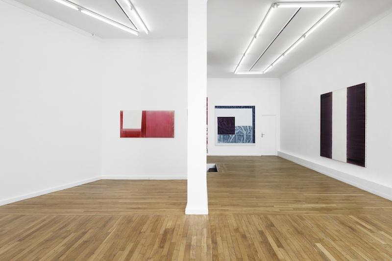Vue de l'exposition Marc Devade présentée par la galerie Ceysson & Bénétière Paris du 6 février au 14 mars 2020 Photo Aurélien Mole