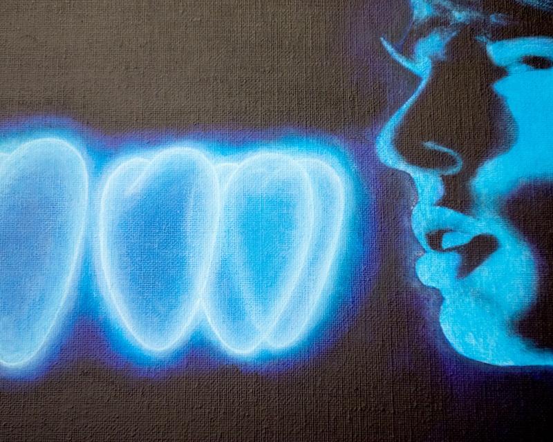 The Conversation (detail), 2018 acrylic on canvas, 200x160cm