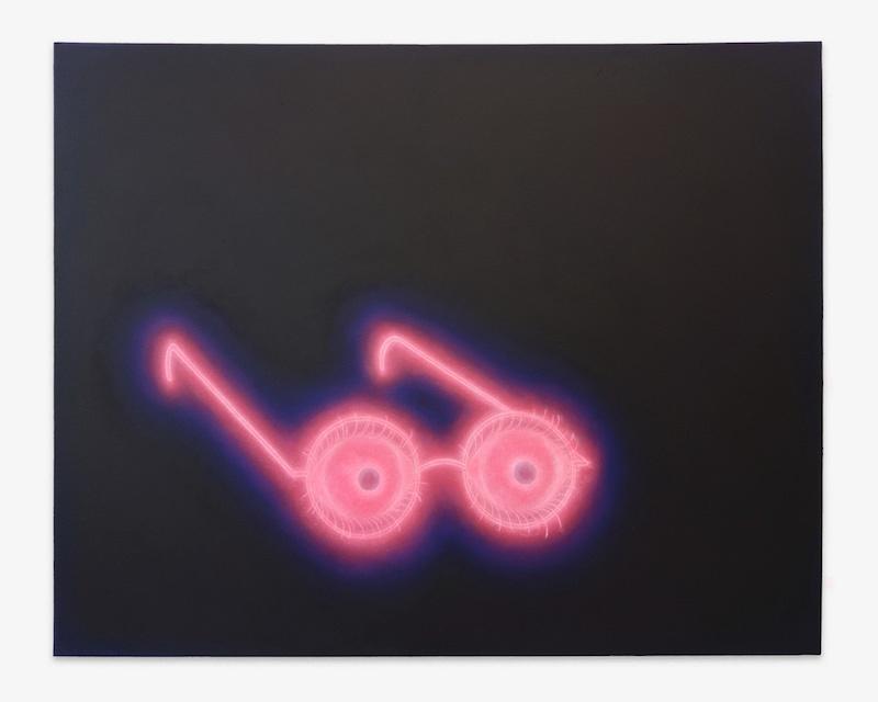 Pedro Ruxa, Les yeux sans visage, 2019 acrylic on canvas, 65x81cm