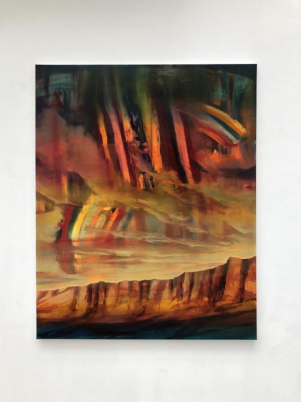 Edouard Wolton, The wall, 2020. Huile sur toile. Courtesy artiste et Galerie Les filles du calvaire