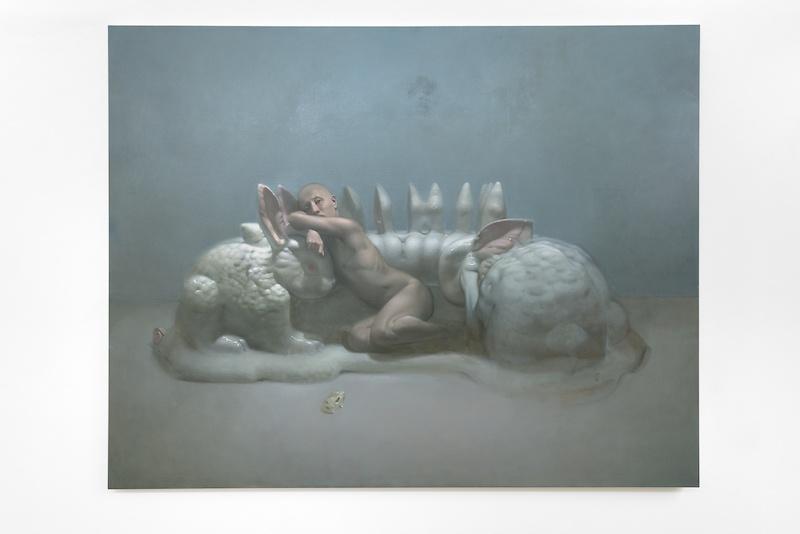 Abel Techer Sans titre huile sur toile 170 x 230 cm 2020 Courtesy Maëlle Galerie Copyright Jérome Michel