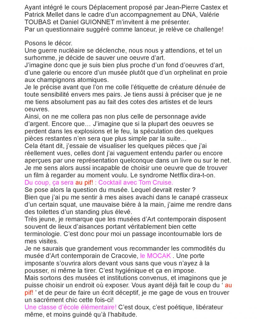 Guillaume Chalté, Chroniques d'atelier, isdaT, école des beaux-arts de Toulouse