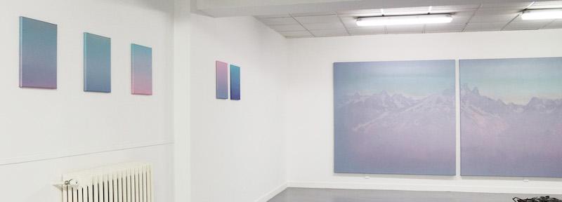 Vue de l'exposition Soluble de Johanna Perret du 21 janvier au 13 mars 2020 à l'Angle, La Roche Sur Foron