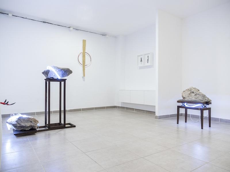 Vue d'exposition PULSE, de Léo Fourdrinier Galerie l'Axolotl Toulon jusqu'au 02 mai 2020