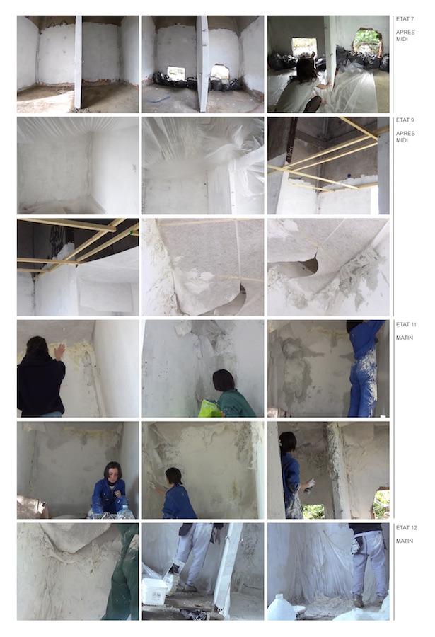 Travail dans le transformateur électrique désaffecté  Vidéograme du processus , installation peinture, plâtre, bois, plastiques, matériaux de récupération
