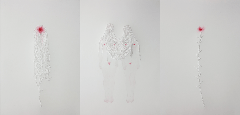 Marielle Degioanni, Inner, fire jonction, amour et violence III, 2019