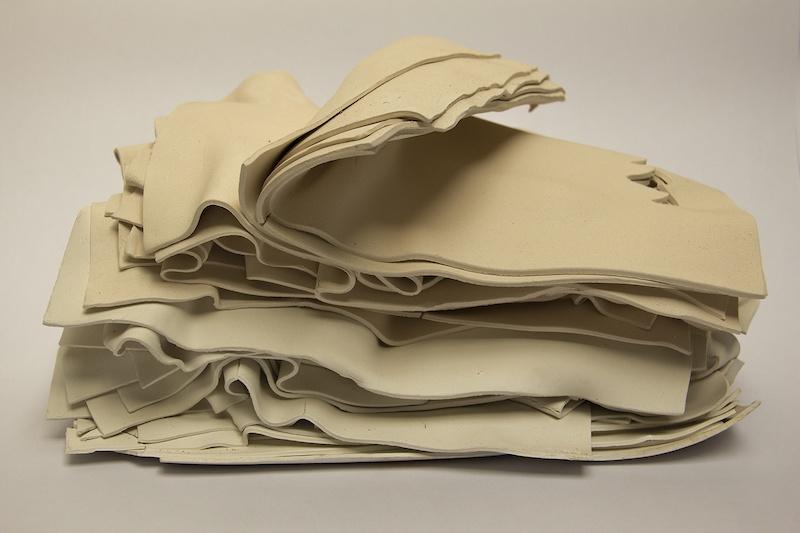 Paula de Solminihac White Book, 2014. White clay paper, 35 x 26 x 16 cm