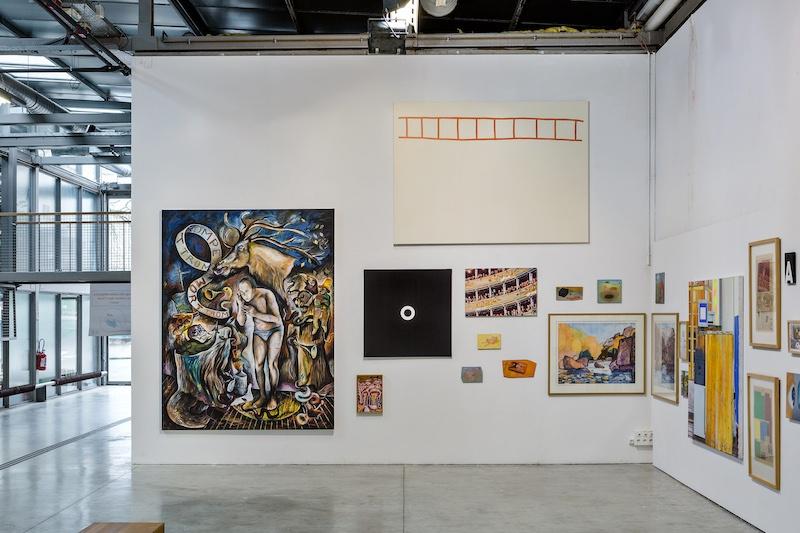 Vue de l'exposition Clichés-Peintures FRAC Artothèque Nouvelle Aquitaine - ENSA Limoges Photo par F. Avril.