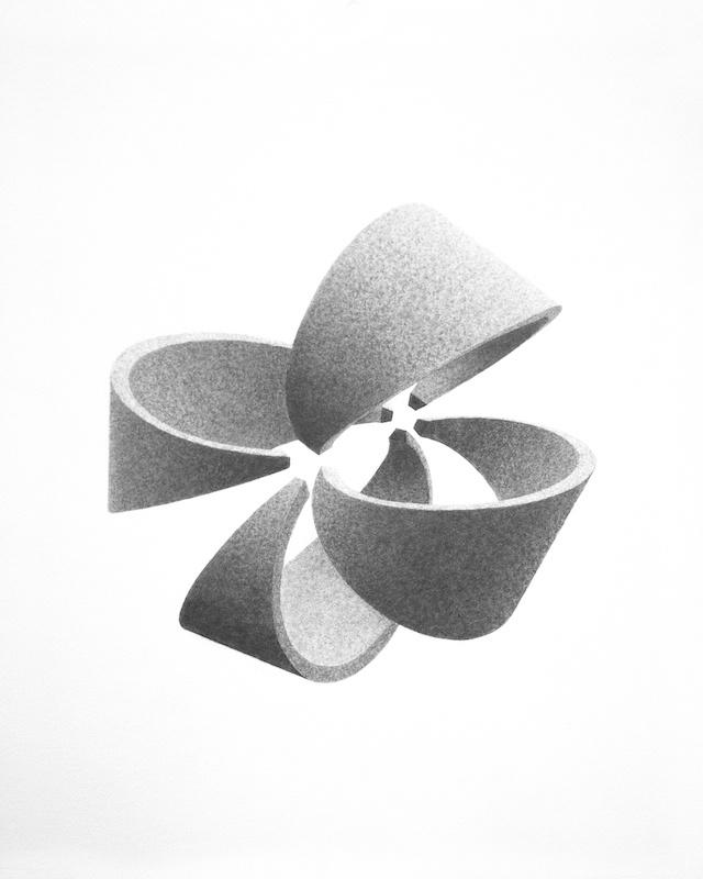 Félix Pinquier, Experiment and Modeling #13, 2019, crayon et graphite sur papier